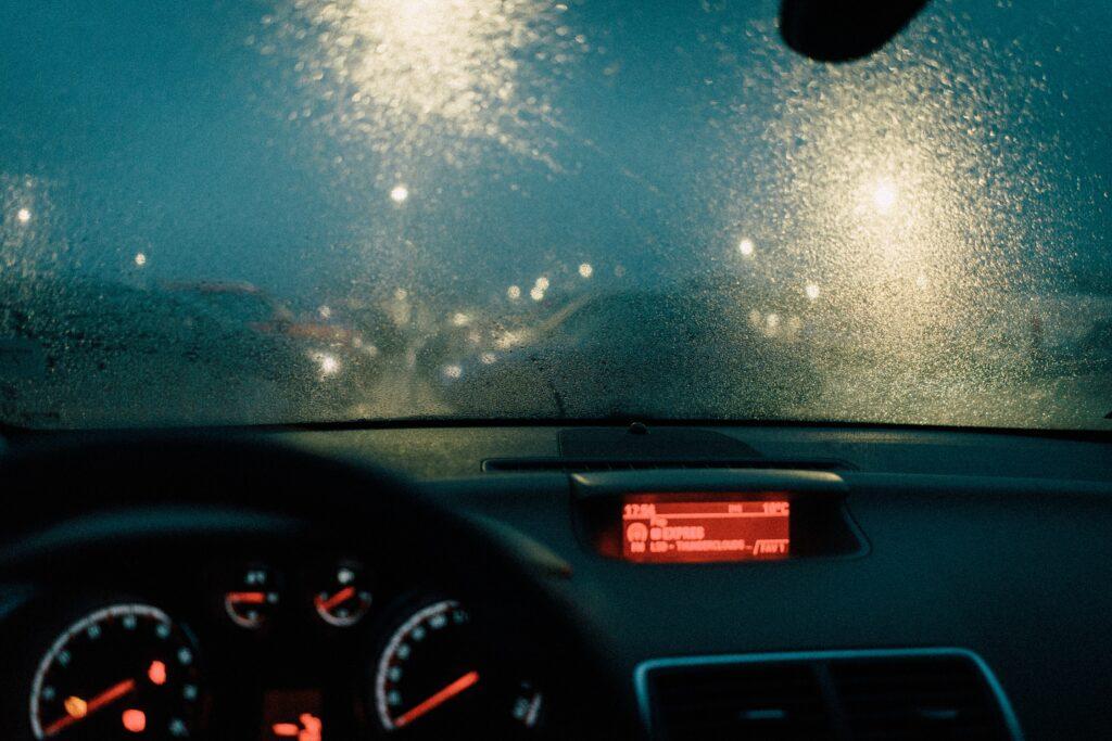 Hazy sandblasted windshield - Get Baytown windshield repair from Joey's Glass