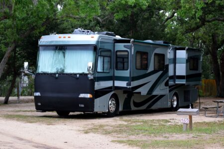 RV in Campground needs auto glass repair in Baytown for chipped windshield