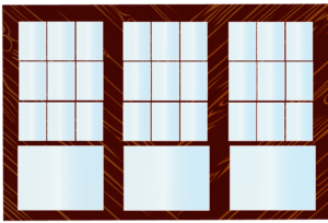 wooden storm windows after Baytown glass repair
